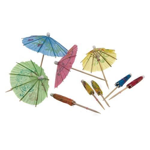 Papírové ozdobné deštníčky 10ks - BANQUET