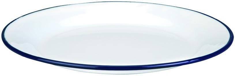 Smaltový talíř MODROBÍLÝ O 26 cm hluboký - Ibili