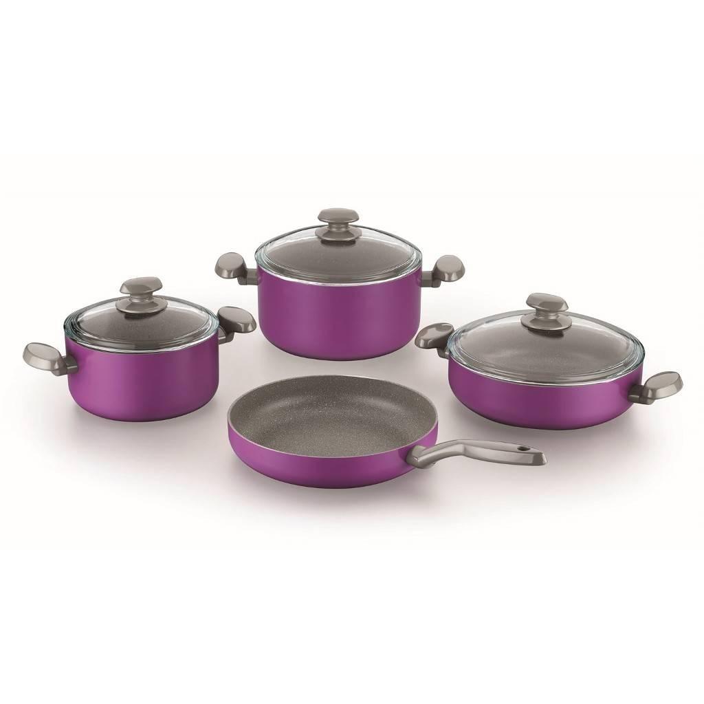 Sada nádobí teflon fialová 7 ks - Korkmaz