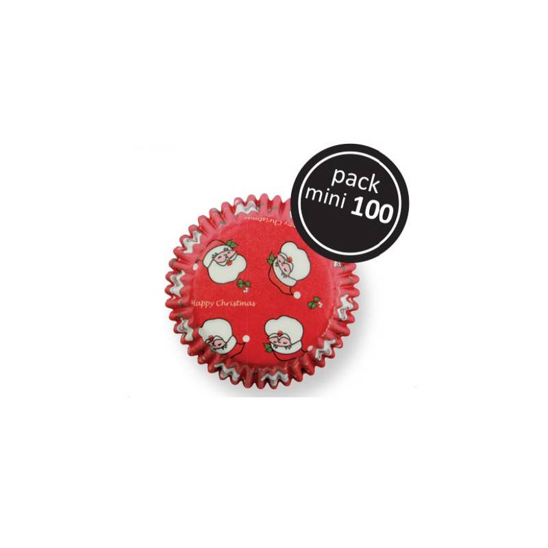 Košíčky na muffiny 100ks SANTA CLAUS MINI - PME
