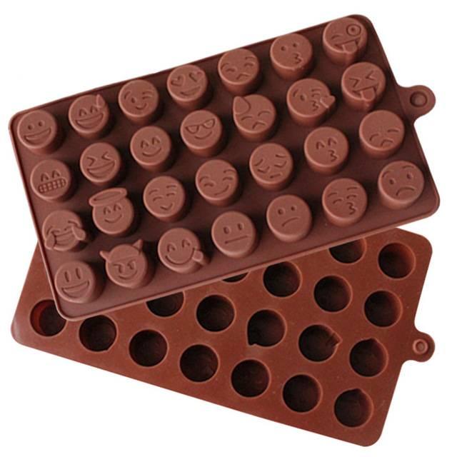 Silikonová forma na čokoládu SMAJLÍCI - ILA