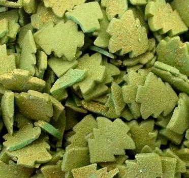 Cukrové stromečky ZLATO ZELENÉ 40 g - Vola colori