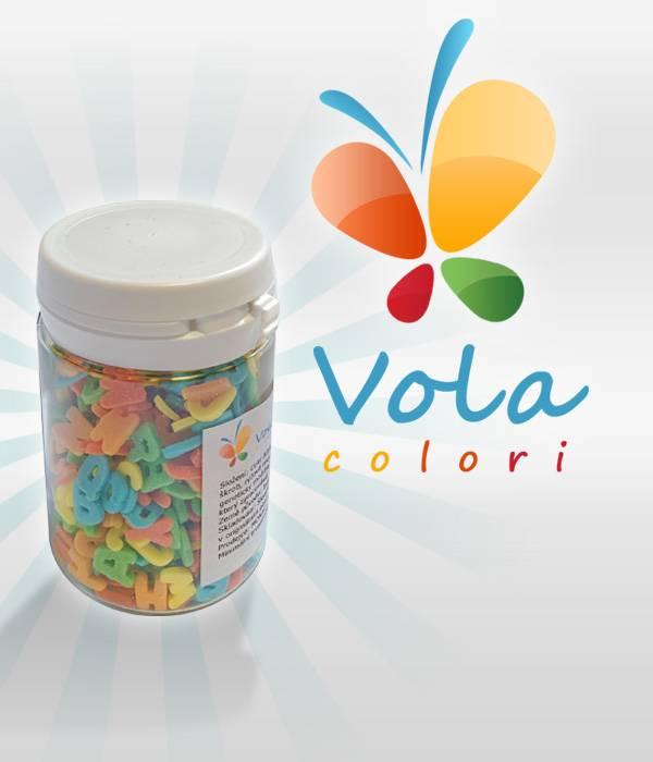 Cukrová písmenka BAREVNÁ 40 g - Vola colori