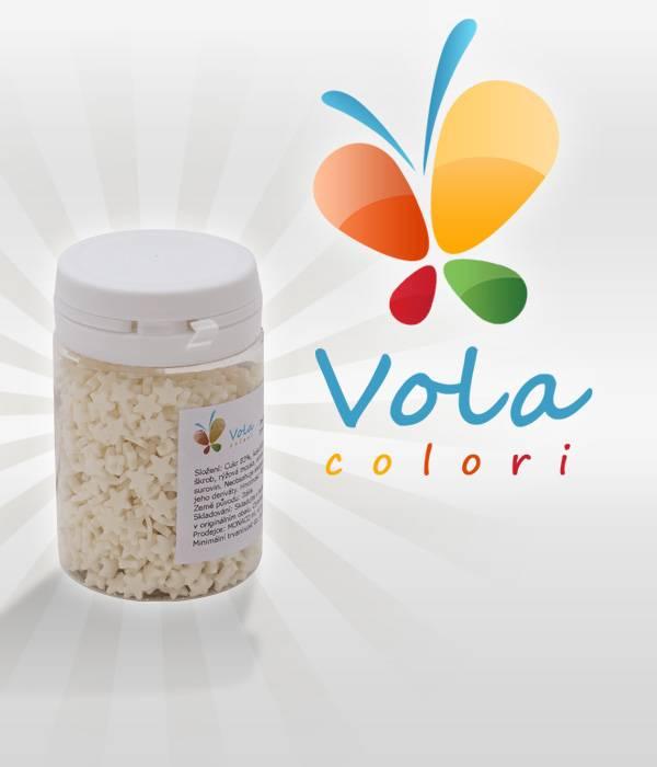 Cukrové hvězdičky BÍLÉ 40 g - Vola colori