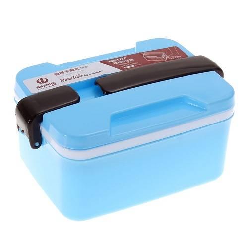 Svačinový box patrový modrý - ILA