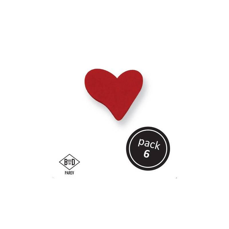 Cukrové srdce 3x2,4cm 6ks - PME