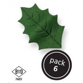 Cukrové zdobení – zelené listy 4x2,6cm – 6ks - PME