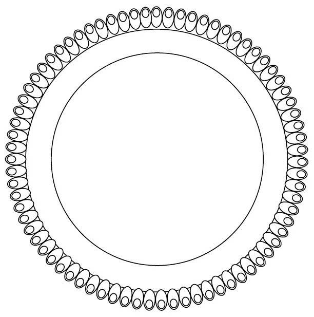 Tác plastový bílý, kruh 26cm -