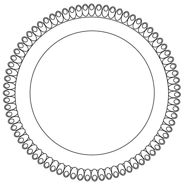 Tác plastový bílý, kruh 34cm -