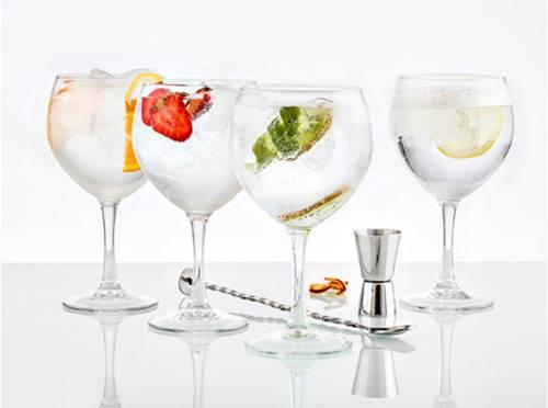 Sada na Gin - sklenice, lžička a odměrka - Ibili
