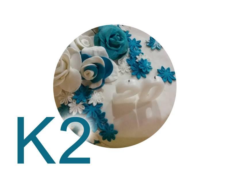Potahovací hmota na dorty 1kg - K2
