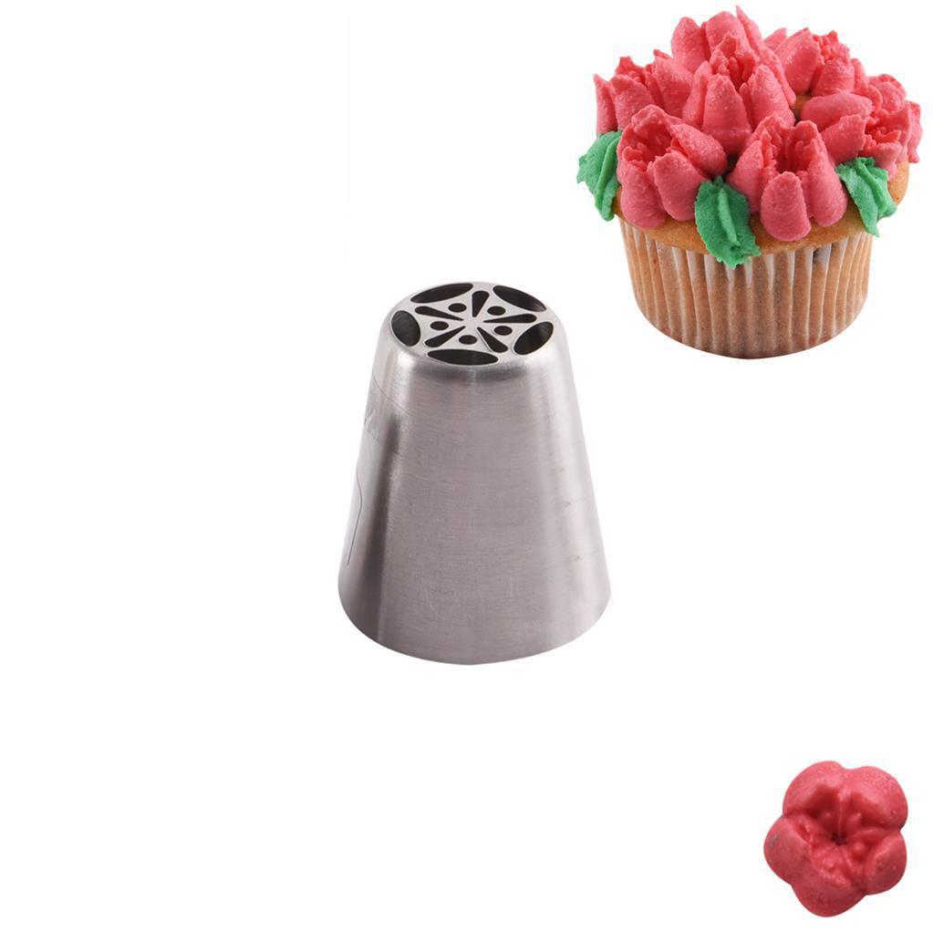 Zdobící špička nerez tulipán 1ks - Orion