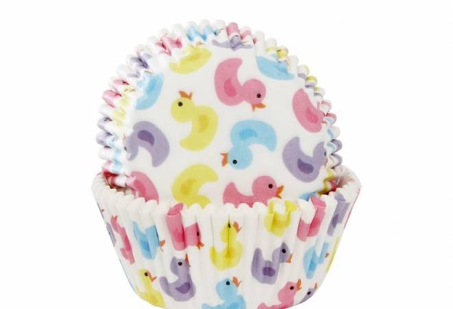 Košíčky na muffiny barevné kačenky 50ks - House of Marie