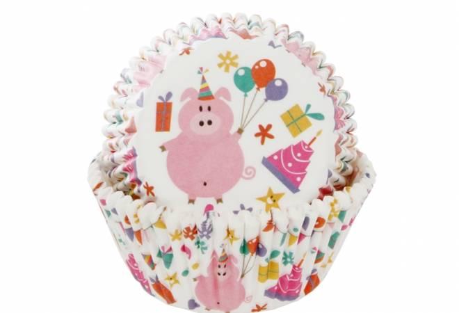 Košíčky na muffiny oslava prasátko 50ks - House of Marie