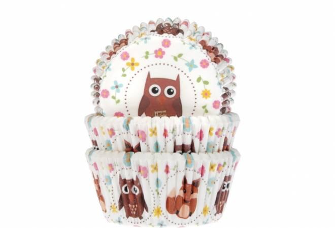 Košíčky na muffiny sova 50ks - House of Marie
