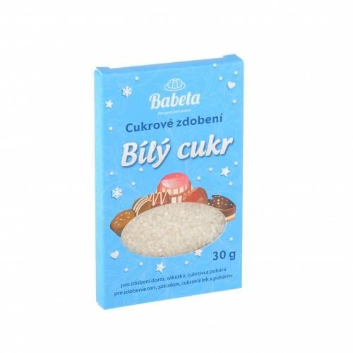 Cukrové zdobení bílý cukr 30g krystalky -