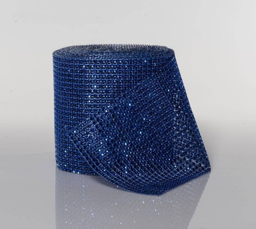 Stuha na dort diamantová - tmavě modrá -