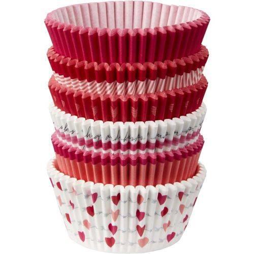 Košíčky na muffiny valentýn 50x32mm 150ks - Wilton