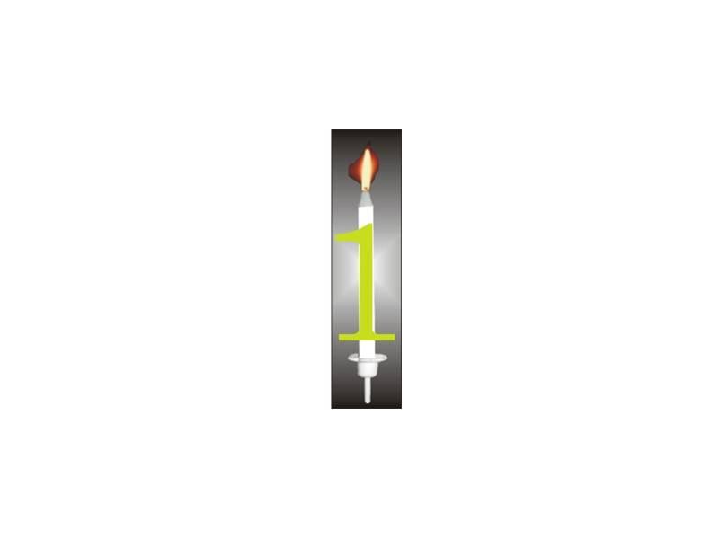 Dortová svíčka reflexní číslo 1 - PREZENT