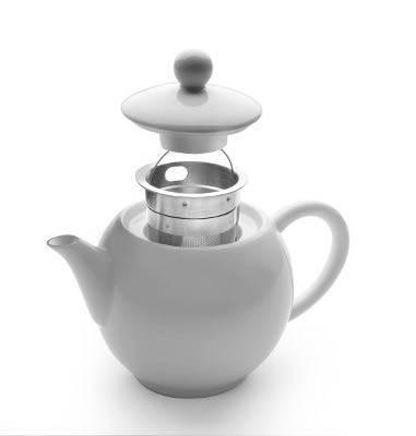 Porcelánová konvička na čaj do mikrovlnné trouby 400ml - Ibili