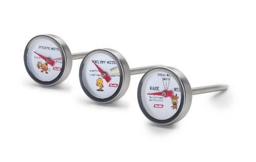 3ks mini teploměrů na přípravu kuřete, hovězího a brambor - Ibili
