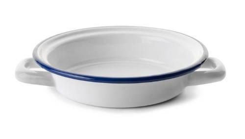 Smaltovaný kastrůlek bílo modrý 16cm - Ibili