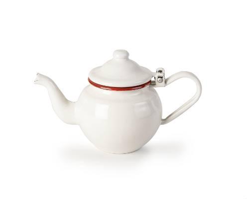 Konvička na čaj smaltovaná bílo červená 0,5l - Ibili