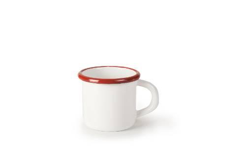 Smaltovaný hrnek červeno bílý 8cm - Ibili