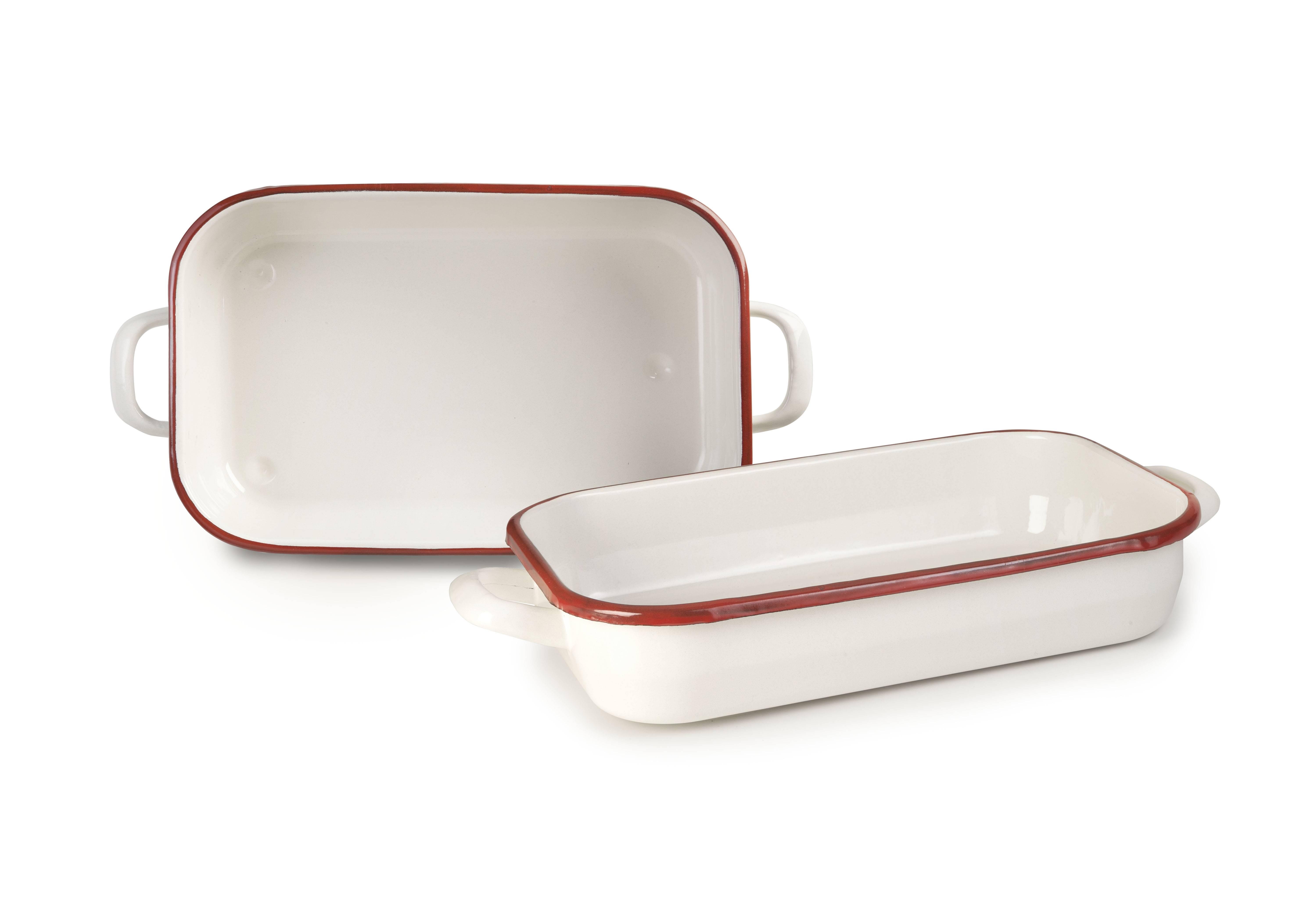 Smaltovaný pekáč červeno bílý 32cm - Ibili