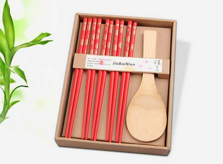 Sushi hůlky červené + lžíce na rýži - ILA