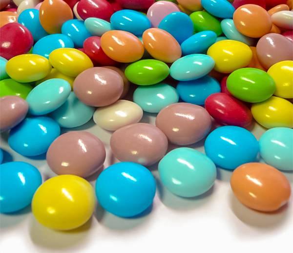 Pecky čokoládové barevné 1cm 50g -