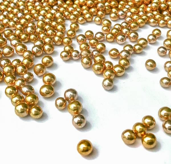 Cukrové perličky zlaté 50g -