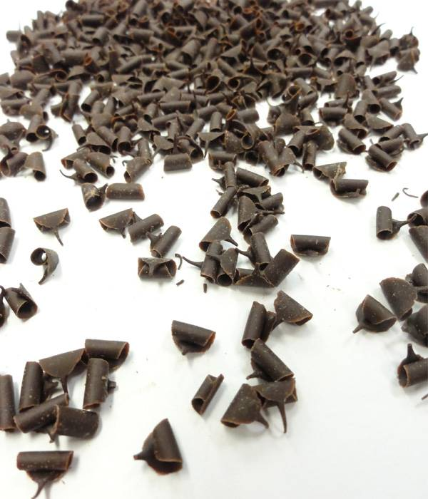 Čokoládové hoblinky mini 7x3mm hořké 100g -
