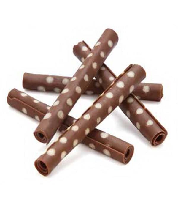 Čokoládové tyčinky Rolls Yucca 8 - 8,5cm mléčno bílé 25ks -