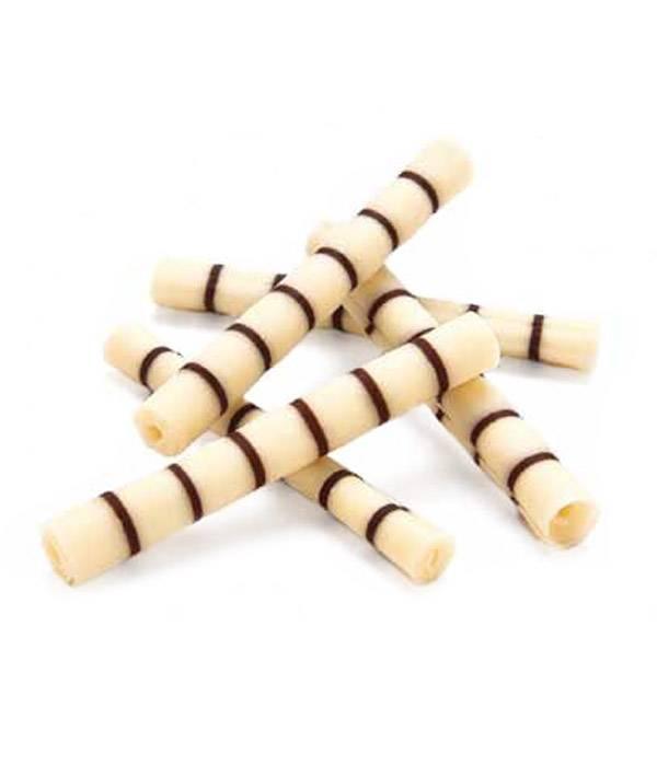 Čokoládové tyčinky Rolls Bamboo 7 - 7,5cm bílo hořké 25ks -