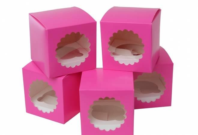 Papírový box na cupcake růžový 5ks - House of Marie