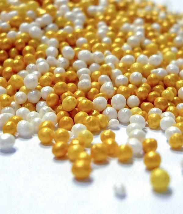Cukrový máček mix zlatý a perleťový 50g -