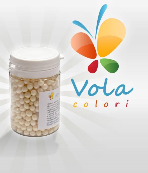 Cukrové perly světle ecru perleťové (50g) -