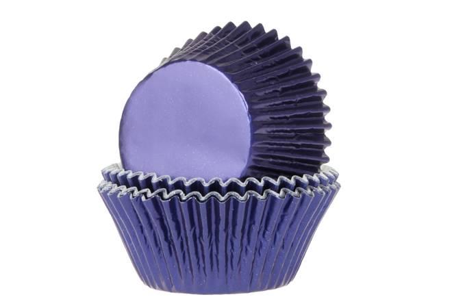 Košíčky na muffiny lesklý modrý 24ks - House of Marie