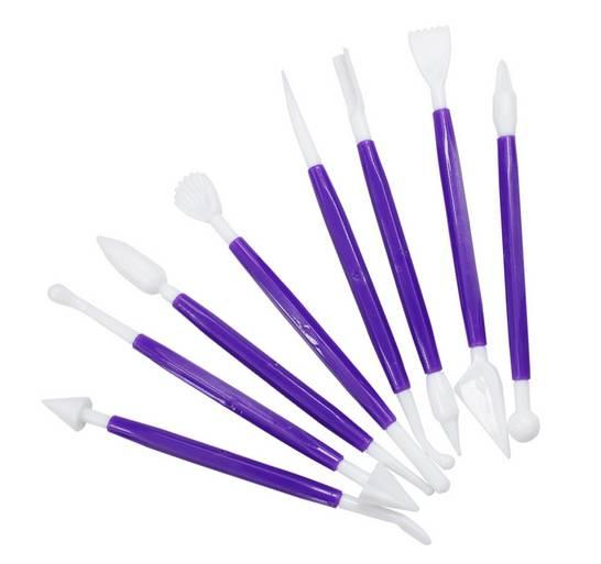 Kostice na dekorování dortů 8ks fialové - ILA