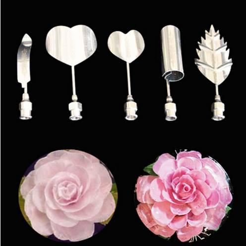 Jelly flower 5 kusů jehel na výrobu květin z želatiny růže - ILA
