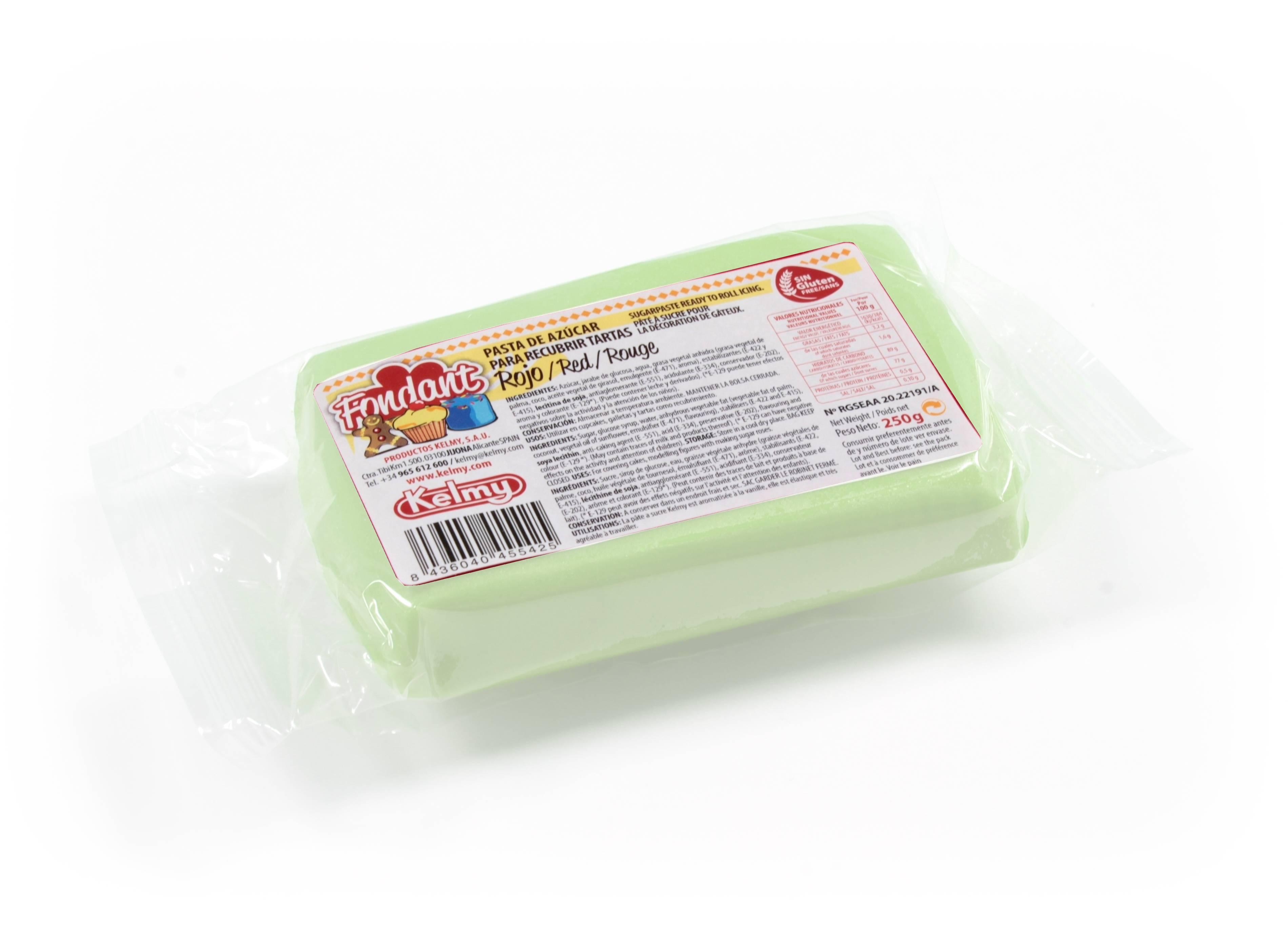 Potahovací hmota 100 g - světle zelená - Kelmy