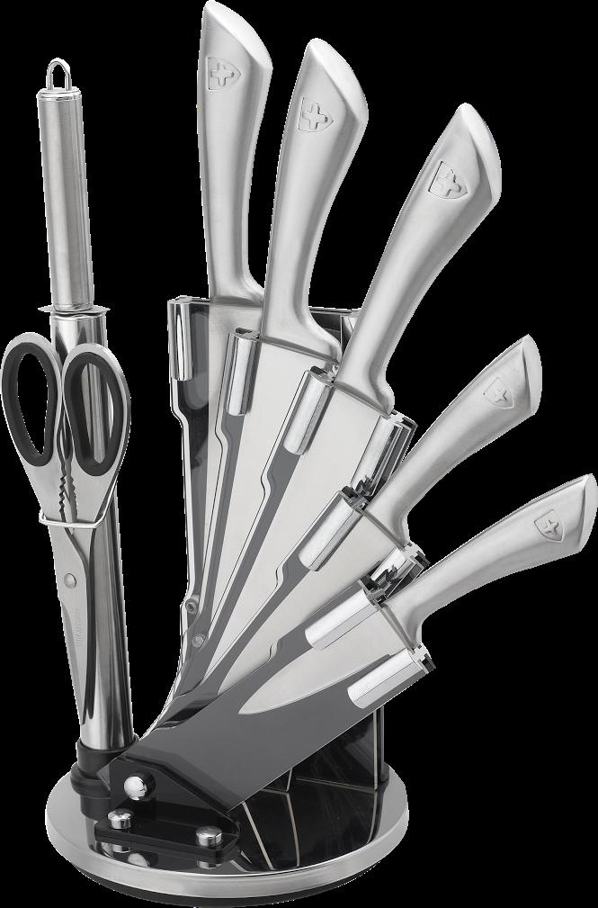 8-dílná sada ocelových nožů, nůžek a ocílky RL-KSS600 - RoyaltyLine