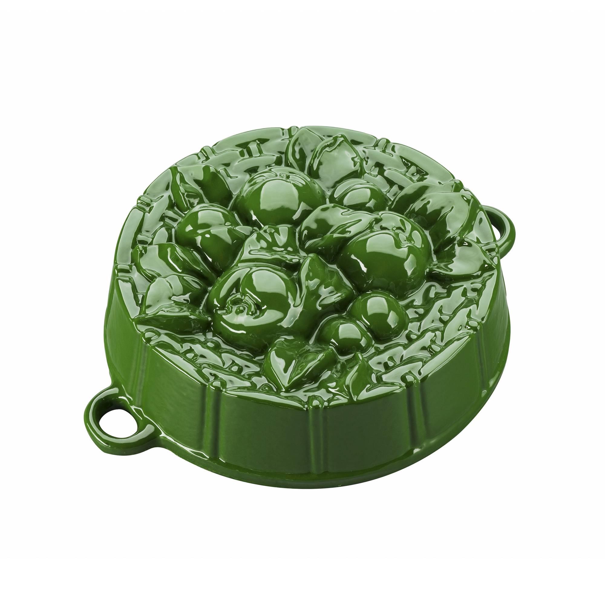 Pečící forma s jablíčky, tmavě zelená - Smalt