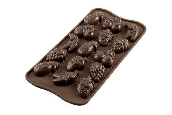 Silikonová forma na čokoládu ovoce - Silikomart