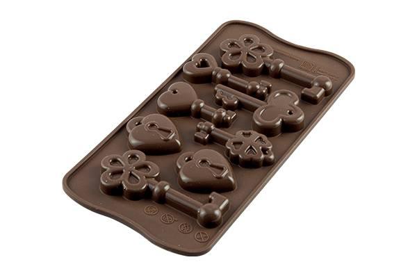 Silikonová forma na čokoládu klíče - Silikomart