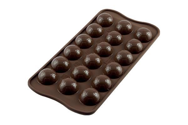 Silikonová forma na čokoládu fotbalový míč - Silikomart