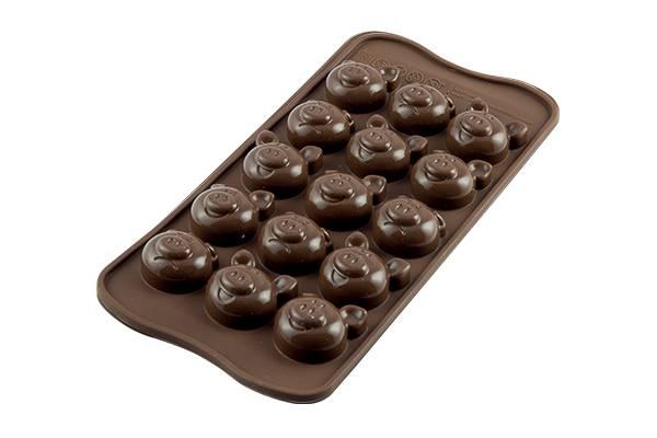 Silikonová forma na čokoládu prasátka - Silikomart