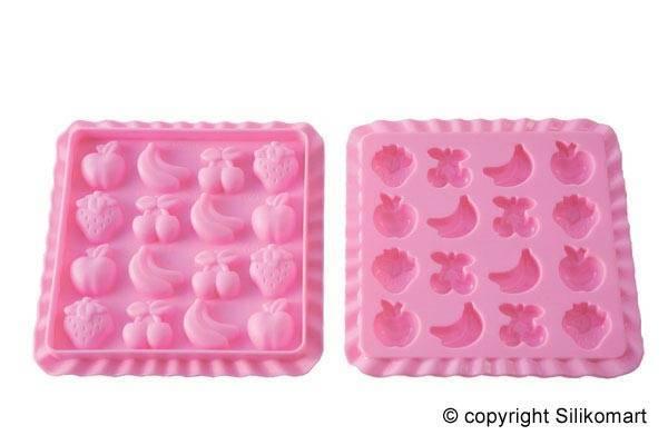 Silikonová forma na bonbony tuti fruti - Silikomart