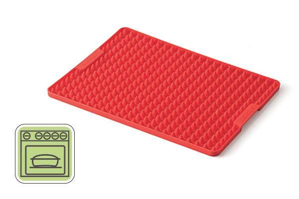 Silikonový plech červený 290x220mm - Silikomart